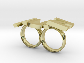 Nutz Double 2 in 18K Gold Plated