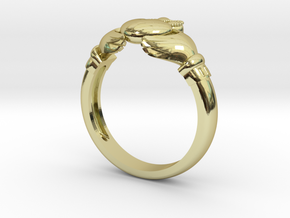 Irish Claddagh ring in 18K Gold Plated