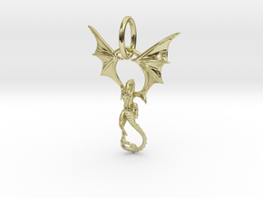 Dragon pendant # 6 in 18K Gold Plated
