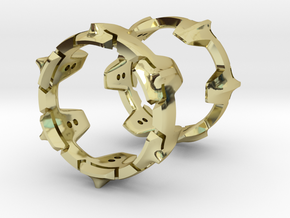 Mystery Ring (small) 17 mm in 18K Gold Plated