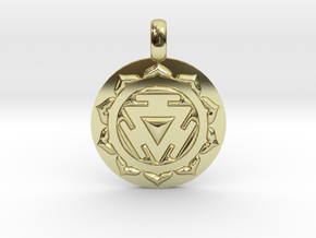 SOLAR PLEXUS MANIPURA Chakra Symbol Pendant in 18K Gold Plated