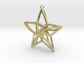 Twisted Star Necklace in 18K Gold Plated