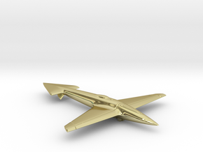 Uni-Dir Slim Plane Toy (88mm long) in 18K Gold Plated