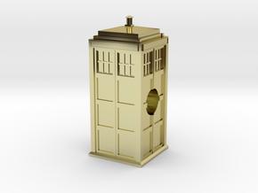 The TARDIS European Charm Bracelet Bead in 18K Gold Plated