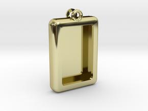 Rectangular Frame Pendant in 18K Gold Plated