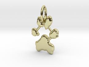 Custom Paw Print Pendants - Roxy's Paw Print in 18K Gold Plated