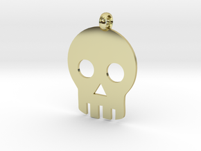 Skull necklace charm in 18K Gold Plated
