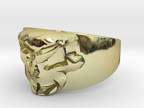 Skull Ring Size 10 in 18K Gold Plated