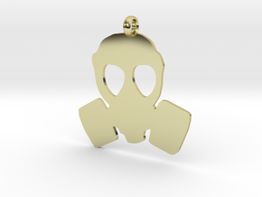 Gas Mask necklace charm in 18K Gold Plated