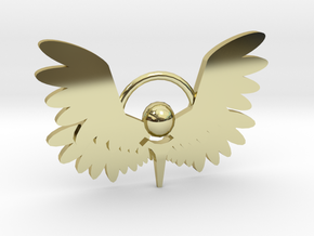 Winged Keychain in 18K Gold Plated