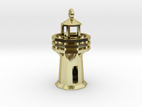 Lighthouse Pendant in 18K Gold Plated
