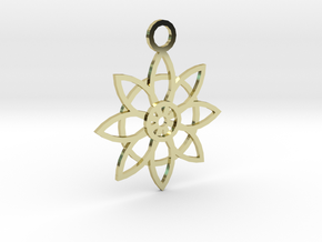 Flower Pendant in 18K Gold Plated