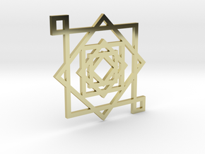Illusionary Square Pendant in 18K Gold Plated