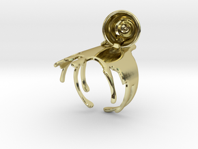 Spilled-Tea Ring Size 6 in 18K Gold Plated