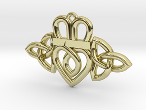 Claddagh Triquetra Pendant in 18K Gold Plated