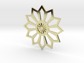 Moroccan Flower Pendant in 18K Gold Plated