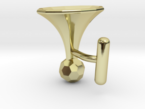 Onglehonk - left cufflink in 18K Gold Plated