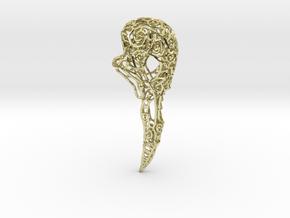 Bird Skull Filigree: 7cm in 18K Gold Plated