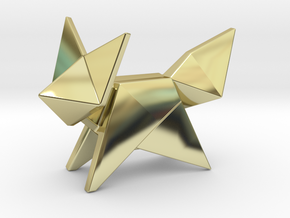 Origami Fox in 18K Gold Plated
