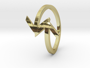 Arrow Ring (Size 7) in 18K Gold Plated