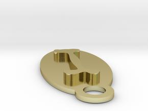 Dog Bone Key Chain in 18K Gold Plated