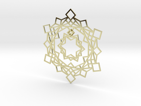 Squares Snowflake Ornament in 18K Gold Plated
