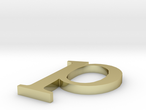 Letter- p in 18K Gold Plated