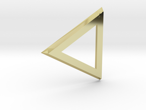 Triangle 'Trinity' pendant #Bronze in 18K Gold Plated