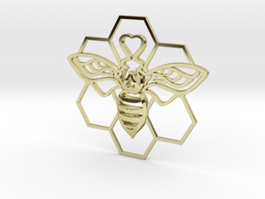 The Bee Pendant in 18K Gold Plated