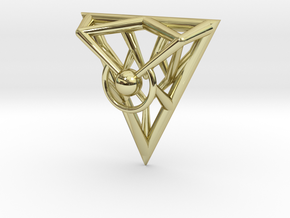 Triangle Line Pendant in 18K Gold Plated