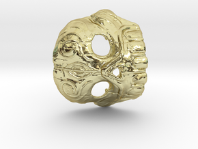Dr. K Skull Pendant in 18K Gold Plated