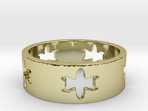 Jewel Tower Ring (Size 7.75) in 18K Gold Plated