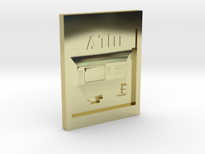 "Contemporary ATM for 4"" Figures in 18K Gold Plated"