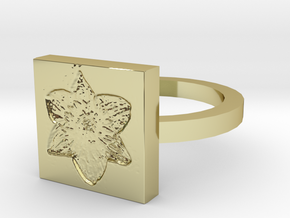 Daffodil Ring in 18K Gold Plated