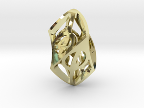Twisty Spindle d6 in 18K Gold Plated