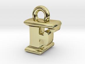 3D Monogram Pendant - FLF1 in 18K Gold Plated