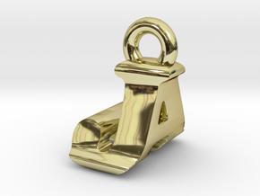 3D Monogram Pendant - JAF1 in 18K Gold Plated
