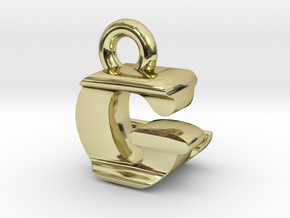 3D Monogram Pendant - GLF1 in 18K Gold Plated
