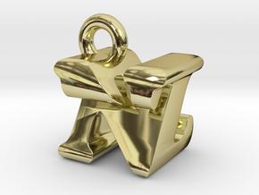 3D Monogram Pendant - NZF1 in 18K Gold Plated
