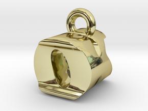 3D Monogram Pendant - OKF1 in 18K Gold Plated