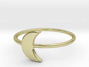 Moon Midi Ring 16mm inner diameter by CURIO in 18K Gold Plated