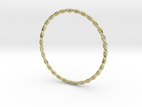 DoubleTwist Bangle Bracelet SMALL in 18K Gold Plated