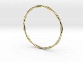 LooseTwist Bangle Bracelet LARGE in 18K Gold Plated