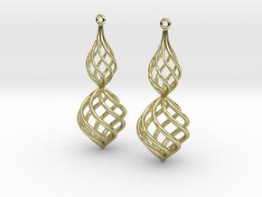 Posh Big Earrings 50mm in 18K Gold Plated