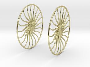 Flowerish 4 Big Hoop Earrings 60mm in 18K Gold Plated