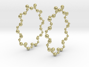 Molecule Big Hoop Earrings 60mm in 18K Gold Plated