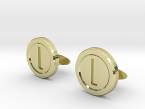 Mario Coin Cufflinks in 18K Gold Plated