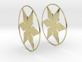 Flowerish 12 Big Hoop Earrings 60mm in 18K Gold Plated
