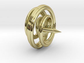 Mobius Spiral Tie Tack Pin in 18K Gold Plated
