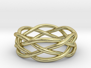 Dreamweaver Ring (Size 12.5) in 18K Gold Plated